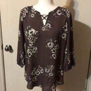 Maurices brown blouse. Size S